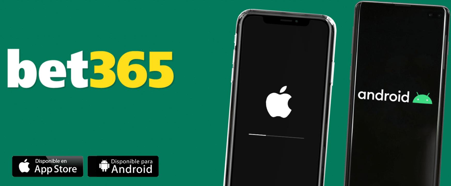 Interface e sistema exige aplicativo Bet365 mobile para Android