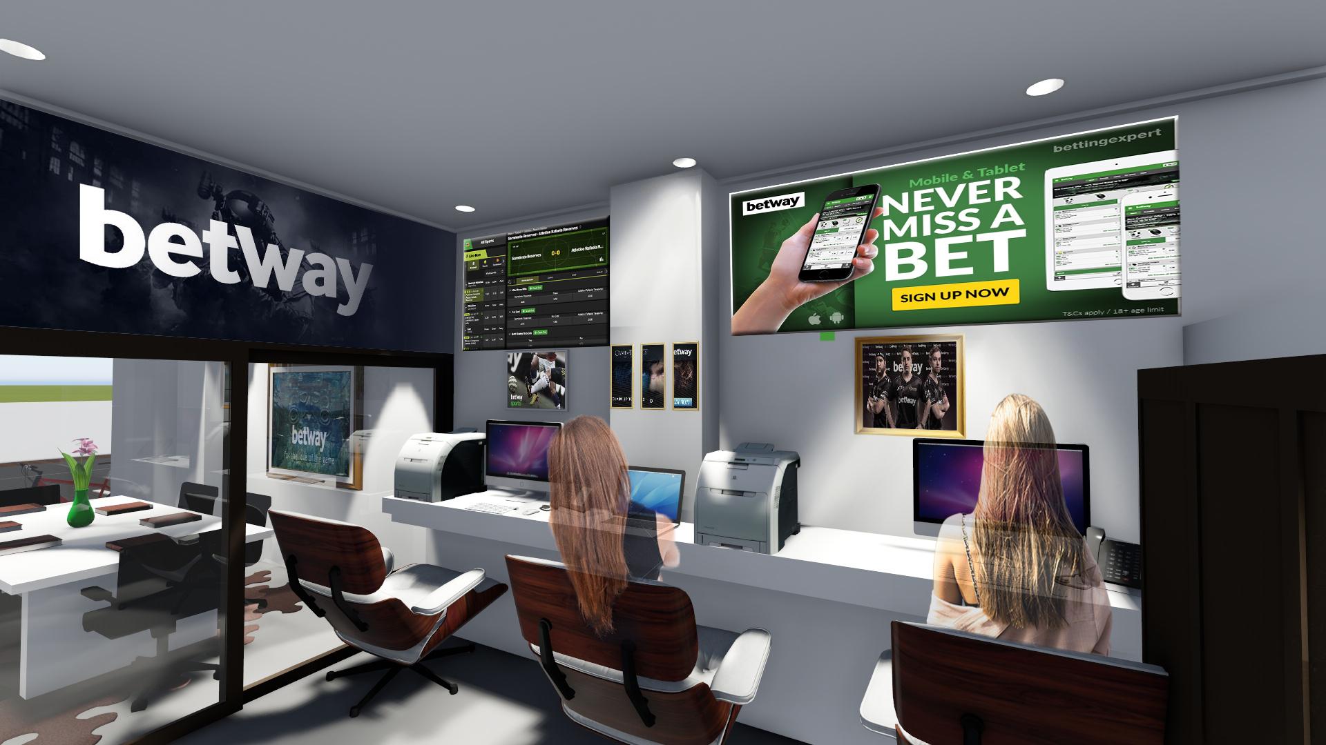 Design do site Betway Moçambique